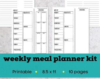 Weekly meal planner bundle, weekly meal planner download, printable weekly menu planner, printable meal plan bundle, meal planning bundle