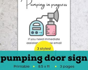 Pumping door sign, breastfeeding sign for door, breastfeeding sign printable, pumping sign for door, pumping sign printable, nursing sign