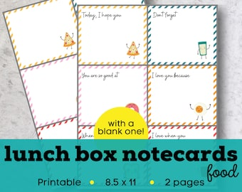 Lunch box cards, kids lunchbox notes printable, Printable lunch box notes for kids, printable encouragement cards for kids