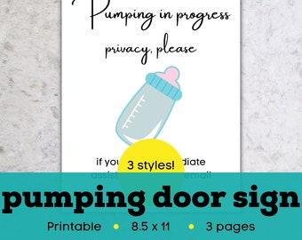 Pumping room decor, pumping in progress sign, nursing sign, pumping sign for work, pumping sign printable, pumping sign for door