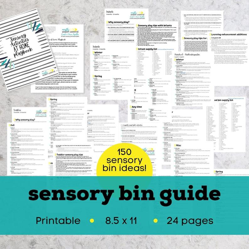 Sensory activities sensory bin kit sensory bins sensory image 0