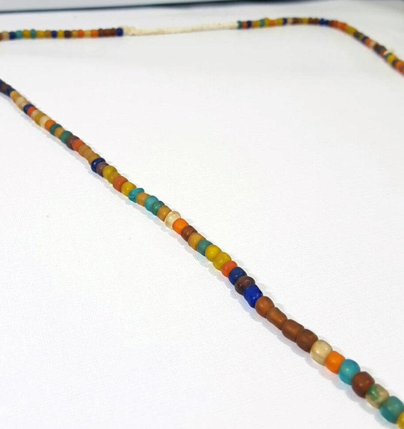 Tawaravadee Glass Trade Beads Necklace 74cm