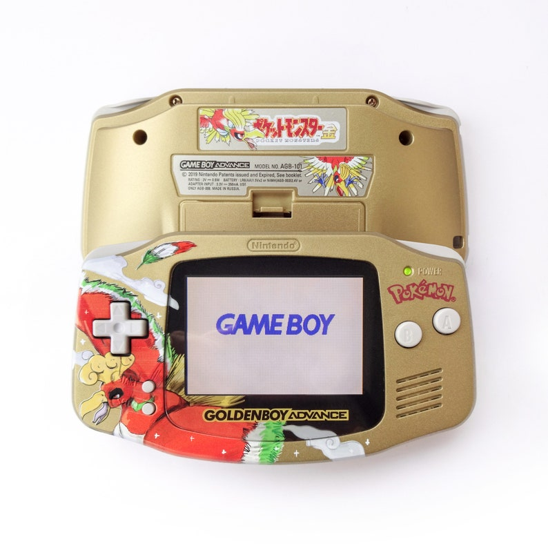 Pokémon Gold GBA | Custom Backlit Nintendo Game Boy Advance