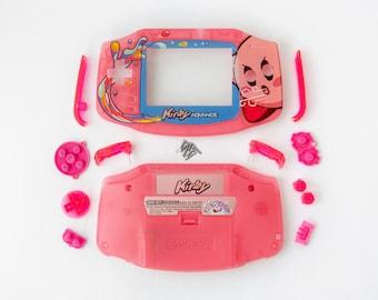 Kirby V3 DIY kit | Nintendo Game Boy Advance shell, buttons, lens, stickers + BOX