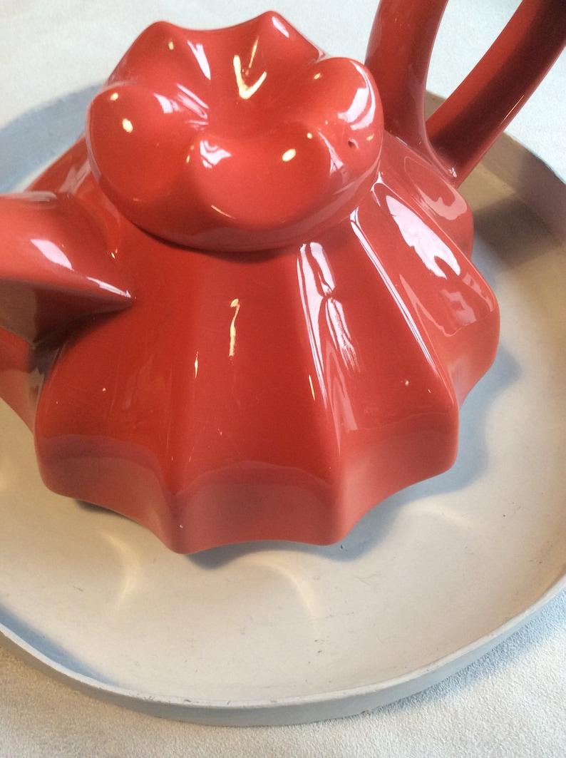 1980/'s Italian Jelly bright orange Tea pot