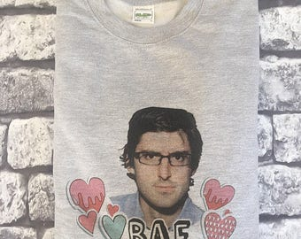 "Louis Theroux pullover  ""Bae"" All Sizes (white/grey)"