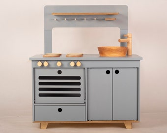 Wooden play kitchen   Etsy
