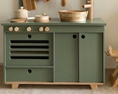 Dusty Green Plywood Play Kitchen