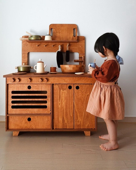 Mahogany Play Kitchen FREE SHIPPING