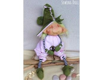 Key Elf doll - Stuffed doll - ooak art doll - Secrets elf guardian -  Bambola elfo chiave - key doll - elf doll - gnomes - gnomo - elf rose 8260669fe3aa