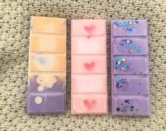 Fun & Fruity Wax Snap Bar Gift Set - dupe type - vegan - gift - birthday - anniversary - alien - VS love spell - love hearts - valentines