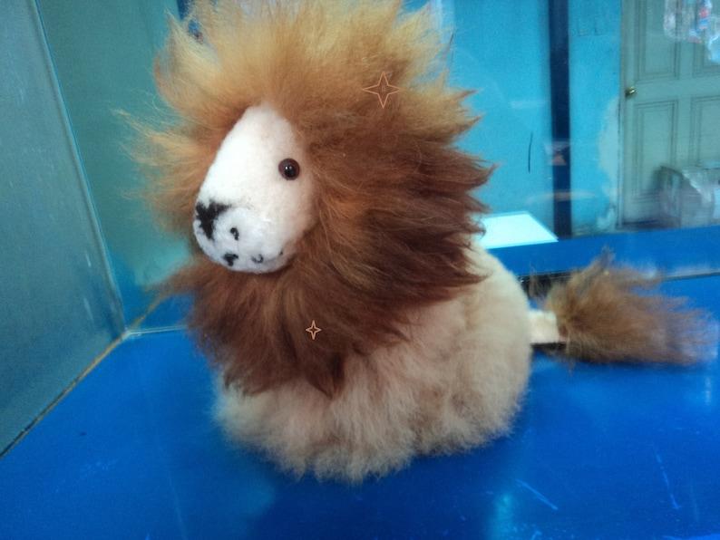 e1fb3e7ed780a6 Lion's Stuffed Animal in ALPACA SKIN fiber 100% natural   Etsy