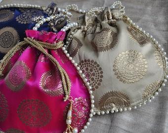 2b9aa93656 25 Gift Bags Potali Bags Holi Gift Bags Indian Bridal