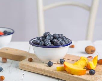 white enamel bowl, serving bowl, kitchen bowl, handmade bowl, serving dish, handmade bowl, small white bowl, PLAIN - small bowl (10 cm)