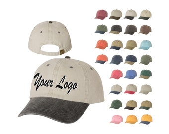daa7dd539c7 Mega Cap - Pigment Dyed Cotton Twill Cap - 7601   Custom Hats   Embroidery  Hats   Monogram Hats Baseball Caps