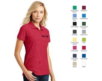 ac054e25 Port Authority® Ladies Core Classic Pique Polo L100 / Custom Polo /  Embroidery Polo / Monogram Polo
