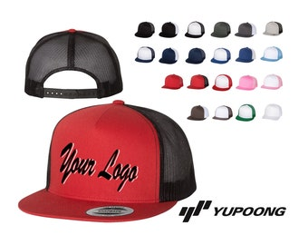 eb4383809fb Five-Panel Classic Trucker Cap - 6006 - Yupoong   Custom Hats   Embroidery  Hats   Monogram Hats  Flat Bill Hat Trucker Hats