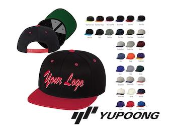 Classic Flat Bill Snapback Cap - 6089M-Yupoong   Custom Hats   Embroidery  Hats   Monogram Hats Custom Snapback 1860cafab094