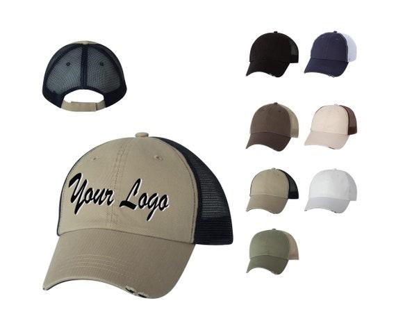 Mega Cap - Organic Cotton/Mesh Cap - 6887 / Custom Hats / Embroidery Hats /  Monogram Hats/Custom Baseball Caps