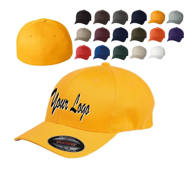 a59bb974 Flexfit Structured Twill Cap. 6277 / Custom Hats / Embroidery Hats /  Monogram Hats/Custom Logo Hats/Custom Baseball Caps