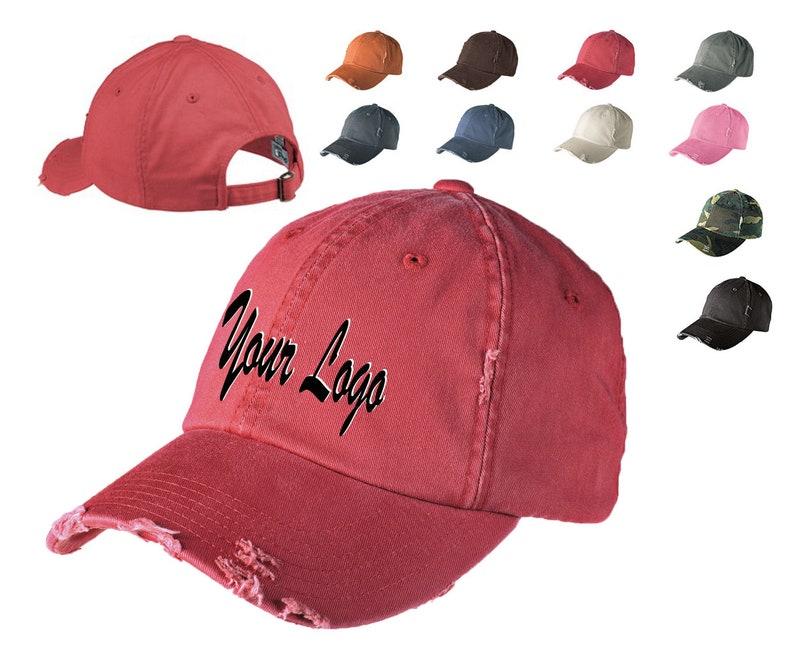 8f5c2ff14 District® Distressed Cap. DT600/ Custom Distressed Hats/ | Etsy
