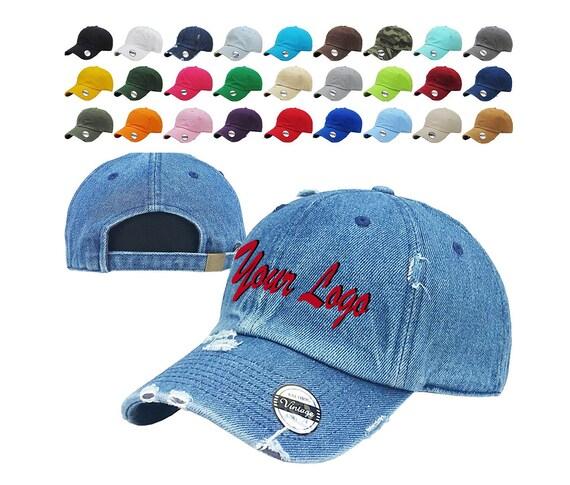 Distressed Baseball Cap KB4005-Kbethos   Custom Hats    d24aa074310