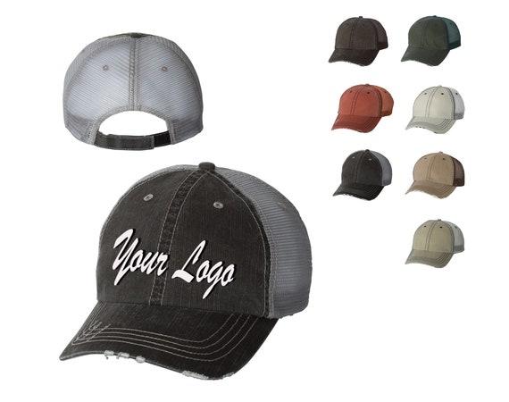 777000252f7 Herringbone Unstructured Trucker Cap 6990   Custom Hats