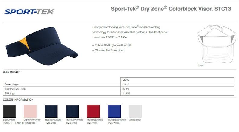 Sport-Tek\u00ae Dry Zone\u00ae Colorblock Visor STC13