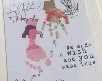Wald Kindergarten Drucken Handabdruck Und Fußabdruck Etsy