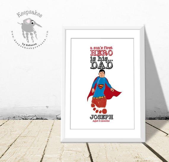 superman fu abdruck geschenk geschenk von sohn geschenk. Black Bedroom Furniture Sets. Home Design Ideas