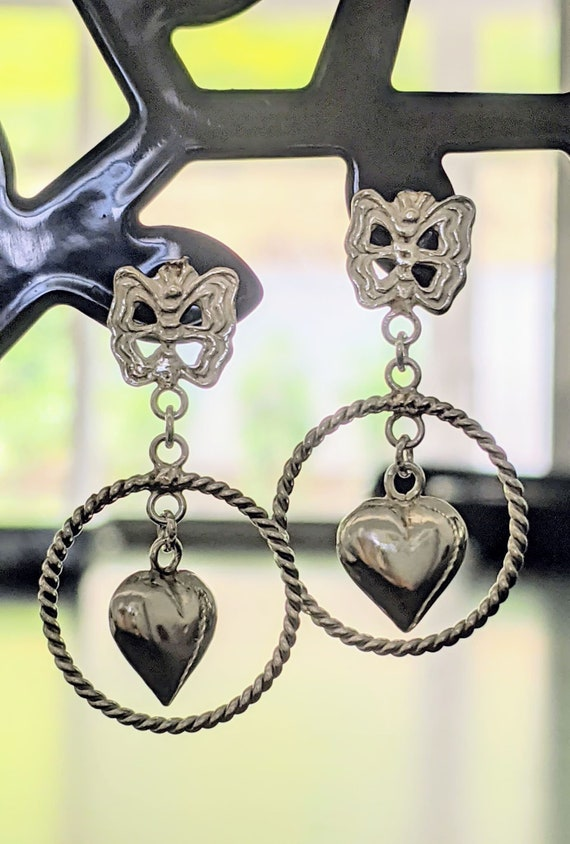 Laser Engraved Beautiful and Elegant Genuine 925 Sterling Silver Puffy Heart Pierced Post Earrings