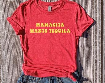 dc4cc357 Mamacita Wants Tequila, Cinco de Mayo Tequila Shirt, Fiesta Shirt, Tequila  Tees, Drinking T Shirts, Cinco de Mayo Outfit Women, Graphic Tees