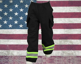 Toddler Firefighter BLACK Turn-out Gear Pants
