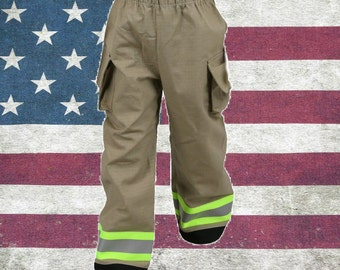 Toddler Firefighter TAN Turn-out Gear Pants