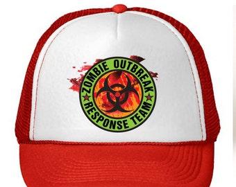 Zombie Outbreak Response Team Color Trucker Hat