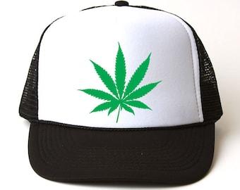 6c77c424d36 Marijuana Leaf Trucker Hat