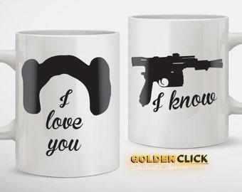 I Love You I know Coffee Mug Set