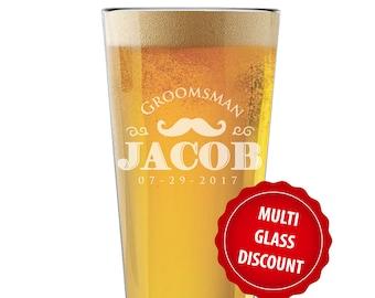 Custom Pint Glass, Engraved Pint Glasses, Custom Pint Glasses, Groomsmen Beer Gift, Engraved Pint Glass, Personalized Pint Glasses