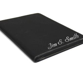 Engraved Leather Portfolio, Business Portfolio, Personalized Portfolio Personalized Journal Graduation Gifts Portfolio Case Pad Folio Zipper