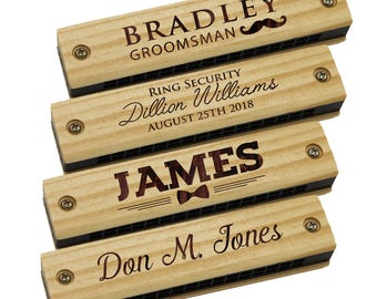 Personalized Harmonica Kids Gift Ideas Personalized Toddler Gifts Custom Kids Gifts Musical Instrument Gift Ringbearer Proposal