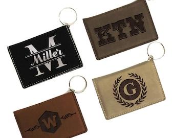 Wallet Keychain, Personalized ID Holder, ID Wallet Keychain, Personalized ID Wallet, Keychain Wallet, Badge Holder, License Holder