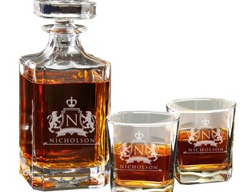 Personalized Whiskey Decanter - Personalized Decanter - Engraved Decanter Whiskey Decanter - Housewarming Gift - Groomsman Gift