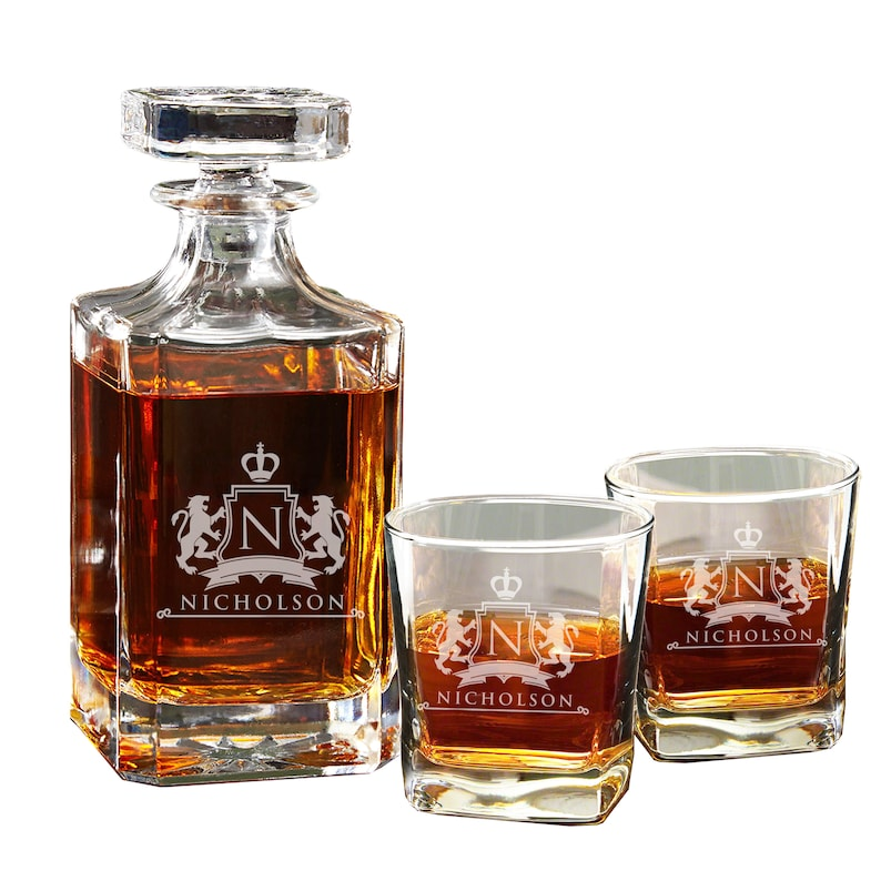 Personalized Whiskey Decanter  Personalized Decanter  image 1