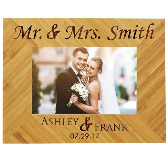 Personalisierte Hochzeit Rahmen Holz Bilderrahmen Etsy