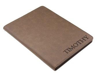 Personalized Portfolio, Monogram Padfolio, Leather Folio, Zipper Padfolio, Leather Portfolio, Monogrammed Portfolio, Custom Padfolio