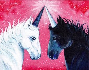 Uni-ty; Unity print; Unicorn print; Unicorn art; Unicorn space; equality art