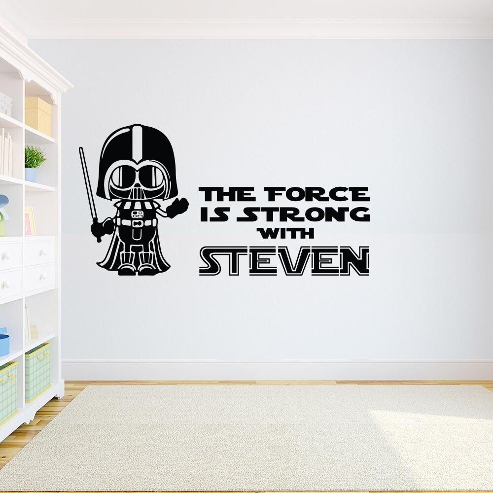 Darth Vader Wall Decal Star Wars Quote Kids Room Decor Star Etsy