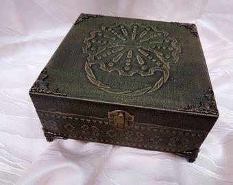 Vintage Wooden jewelry box Decoupage Box Decoupage Furniture Sarajevo Bosnia & Herzegovina Jewellery Storage Box bosnian zvekir