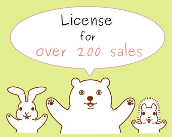 license for commercial use(over 200 printings)