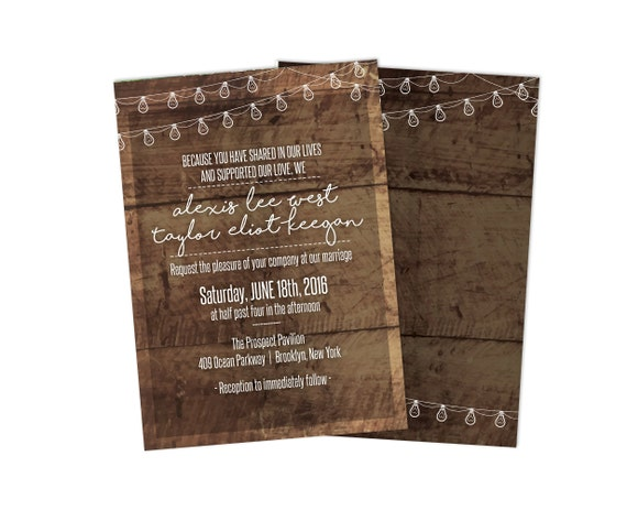Standard Wedding Invitation Wording: Standard Wedding Invitation Card 25 Pack